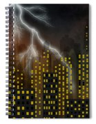 Metropolis At Stormy Night Spiral Notebook
