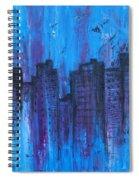 Metropolis In Blue Spiral Notebook