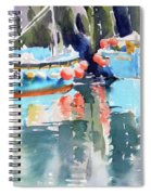 Mevagissey Harbour Spiral Notebook