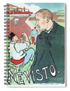 Mevisto In The Country French Theatre Ad Spiral Notebook