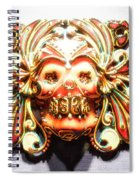Mexican Day Of The Dead Mask Spiral Notebook