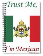 Mexican Flag Spiral Notebook