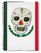 Mexican Flag Of The Dead Spiral Notebook