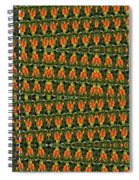 Mexican Poppy Field Abstract Spiral Notebook
