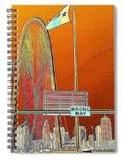 Mhh Bridge Abstract Spiral Notebook