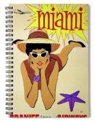Miami Travel By Braniff Airways  1960 Spiral Notebook