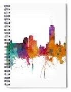 Miami And Nashville Skylines Mashup Spiral Notebook