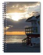 Miami Beach Life Guard House Sunrise 2 Spiral Notebook