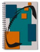 Miami Dolphins Football Art Spiral Notebook