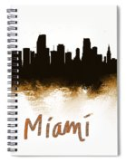 Miami Fla 2 Skyline Spiral Notebook