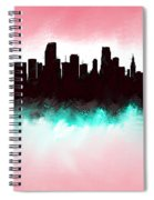Miami Fla Skyline Spiral Notebook