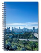 Miami Florida City Skyline And Streets Spiral Notebook
