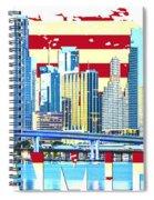 Miami Florida City Skyline Spiral Notebook