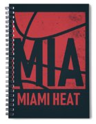 Miami Heat City Poster Art Spiral Notebook