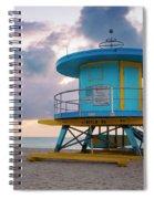 Miami Lifeguard Cabin At Sunrise Spiral Notebook