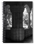Miami Monastery In Black And White Spiral Notebook