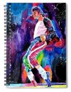 Michael Jackson Dance Spiral Notebook