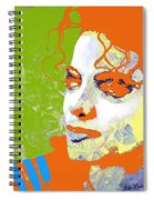 Michael Jackson Green And Orange Spiral Notebook