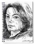 Michael Jackson Thoughts Spiral Notebook