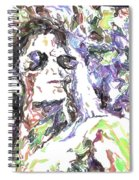 Michael Jackson Watercolor Spiral Notebook