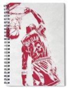 Michael Jordan Chicago Bulls Pixel Art 1 Spiral Notebook