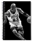 Michael Jordan Drives To The Basket Spiral Notebook