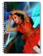 Michelle Ahl Pensive Moment Spiral Notebook
