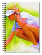 Michelle Wie Of Usa Lined Her Ball Spiral Notebook