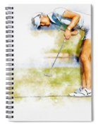 Michelle Wie Of Usa Putting At The  Lpga Lotte Championship  Spiral Notebook