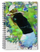 Michelle Wie Street Art Spiral Notebook