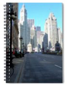 Michigan Ave Tall Spiral Notebook