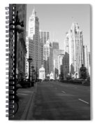 Michigan Ave Tall B-w Spiral Notebook