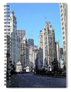 Michigan Ave Wide Spiral Notebook