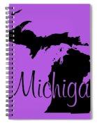 Michigan In Black Spiral Notebook