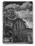 Michigan Old Wooden Barn Spiral Notebook
