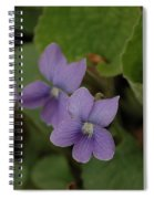 Michigan Purple Spring Flowers Spiral Notebook