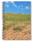 Michigan Sand Dune Landscape In Summer Spiral Notebook