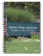 Michigan State University Spartan Village Signage Spiral Notebook