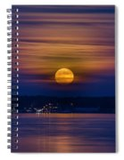 Michigan Super Moon Over Muskegon Lake Spiral Notebook