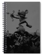 Mickey Mouse In Black And White Spiral Notebook