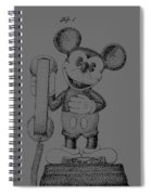 Mickey Mouse Novelty Phone Patent 1978 Spiral Notebook