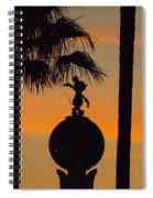 Mickey Mouse Sihouette Spiral Notebook
