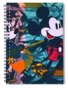 Mickey Mouse Vs. Minnie Mouse Stage On Spiral Notebook
