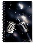 Microphone Club Spiral Notebook