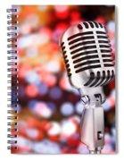 Microphone Spiral Notebook