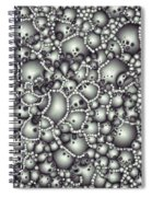 Microscopic Abstract Shapes Spiral Notebook