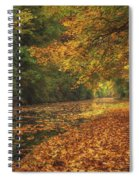 Mid Autumn On The Grand Union No 4 Spiral Notebook