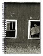 Mid-century Barn Wood Salvage Spiral Notebook