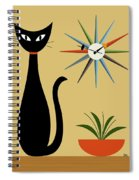 Mid Century Starburst Clock 3 Spiral Notebook