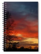 Mid-january Sunset Spiral Notebook